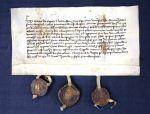 Listina Matěje z Kopce nájemce jezeřanského dvora