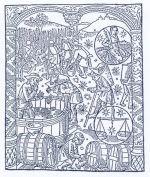 Vinařské práce na renezančním dřevorytu